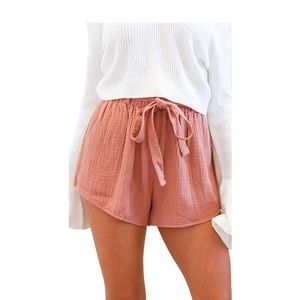 Pants - Belted High Waisted Shorts